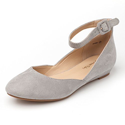 Dream-Pairs-Womens-Revona-Grey-Suede-Low-Wedge-Ankle-Strap-Flats-Shoes-85-BM-US-0