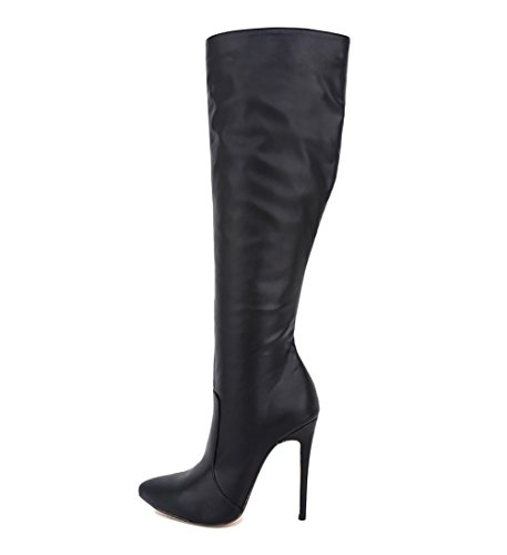 VOCOSI-CB-052-Womens-Knee-Boots-Stiletto-High-Heels-Plain-Classic-Riding-Boots-Shoes-Matte-Black-10-US-0
