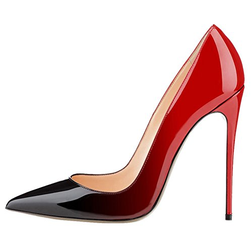 VOCOSI-Pointy-Toe-Pumps-For-WomenPatent-Gradient-Animal-Print-High-Heels-Usual-Dress-Shoes-0