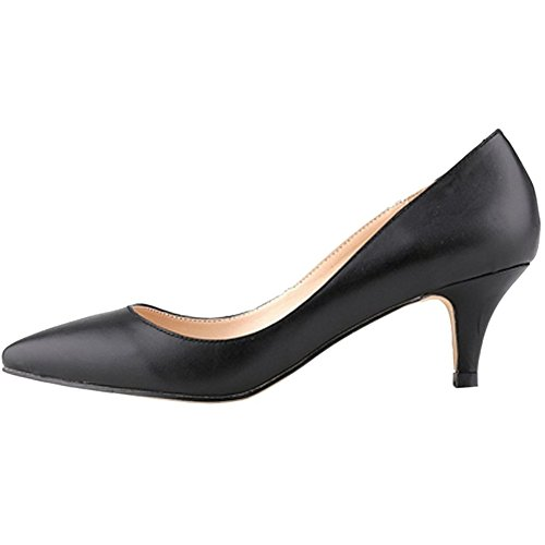 VOCOSI-Womens-Casual-Pumps-Middle-Kitten-Heel-with-Pointed-toe-Fashion-Dressing-Shoes-Matte-Black-12-US-0