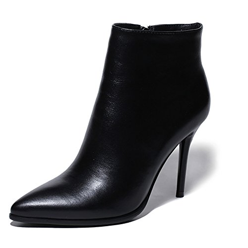 VOCOSI-Womens-High-Heels-Ankle-Boots-Leather-Pointed-Toe-Zipper-Classic-Booties-0
