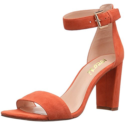 VOCOSI-Womens-Open-Toe-Chunky-High-Heel-Buckle-Ankle-Strap-Sandals-Orange-95-US-0