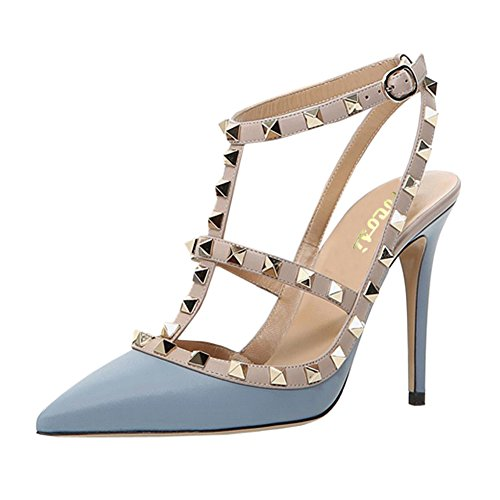 VOCOSI-Womens-Pointed-Toe-Studded-Ankle-Strap-Slingback-Stiletto-Heels-Dress-Party-Wedding-Rivets-Sandals-M-Blue-7-US-0
