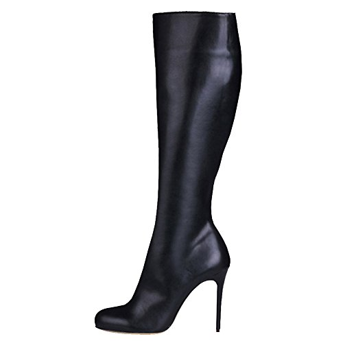 VOCOSI-Womens-Stiletto-Boots-For-Women-Winter-Dress-Knee-High-Combat-Boots-Shoes-High-Heels-Matte-Black-75-US-0