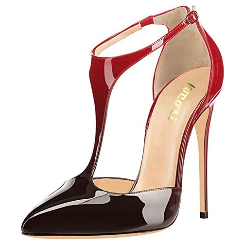 VOCOSI-Womens-T-Strap-Pointed-Toe-Solid-Ankle-Strap-Buckle-High-Heels-Patent-Leather-Pumps-Evening-Dress-Shoes-0