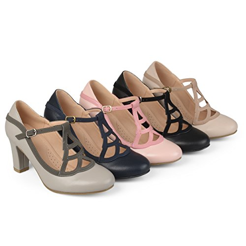 Brinley-Co-Womens-Nasir-Faux-Leather-Two-Tone-Comfort-Sole-Vintage-Round-Toe-Lattice-Mary-Jane-Pumps-0
