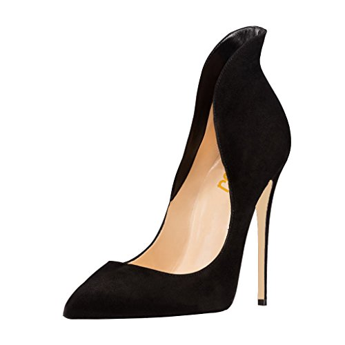 FSJ-Women-Sexy-Prom-Pumps-Pointy-Toe-High-Heels-Dress-Shoes-Stilettos-Size-6-Black-0