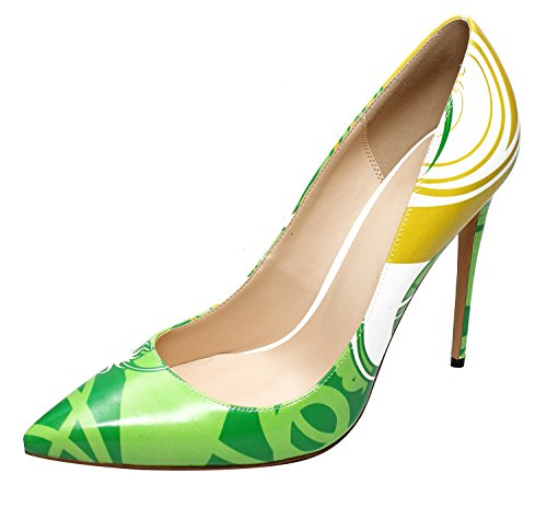 Guoar-Pointed-Toe-472inc-Stiletto-Green-dream-Pumps-Women-Shoes-us9-0