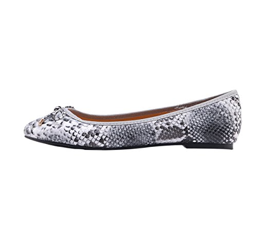 Guoar-Womens-Bowknot-Round-Toe-Comfort-Ballet-Flats-Shoes-Casual-No-Heels-Pumps-Snakeskin-US7-0
