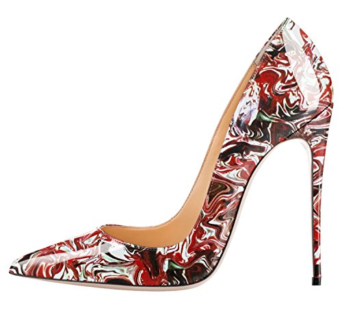 Guoar-Womens-Multicolor-Big-Size-Pointed-Toe-Stiletto-High-Heels-Pumps-Shoes-Red-Abstract-Cloud-US10-0