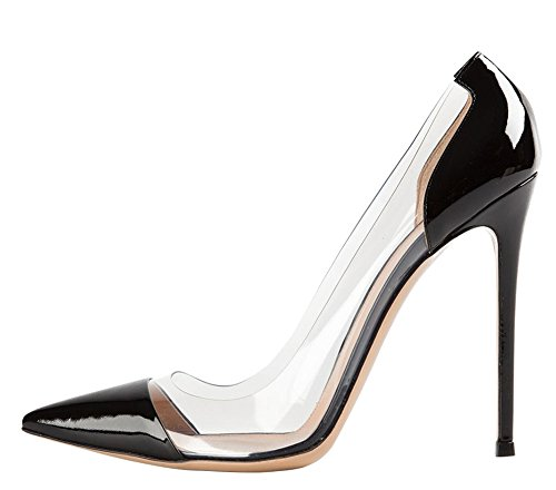 Guoar-Womens-Multicolor-Big-Size-Pointed-Toe-Stiletto-transparency-Stitching-High-Heels-Pumps-Shoes-Black-Patent-US9-0