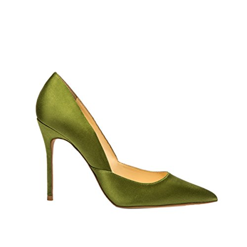 Guoar-Womens-Pointed-Toe-High-Heel-Shoes-Stiletto-Pumps-V-Cut-Dress-Shoes-size-5-12-Green-Satin-US-95-0