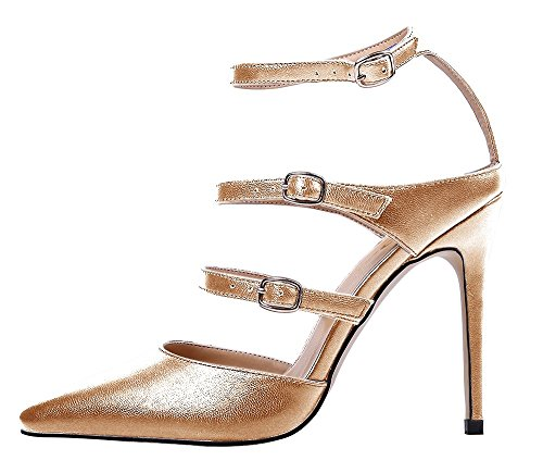 Guoar-Womens-Pointed-Toe-Stiletto-Heels-Ankle-Strap-Strappy-Sandals-Pumps-Shoes-For-Party-Dress-Gold-PU-US-7-0