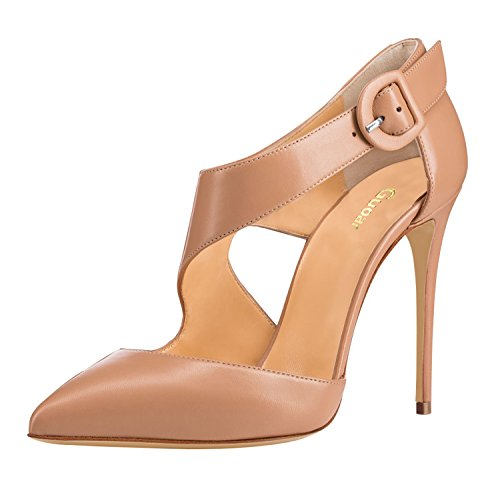 Guoar-Womens-Pointed-Toe-Stiletto-High-Heels-Sexy-Strappy-Ankle-Strap-Heeled-Sandals-size-5-12-Nude-PU-US-12-0