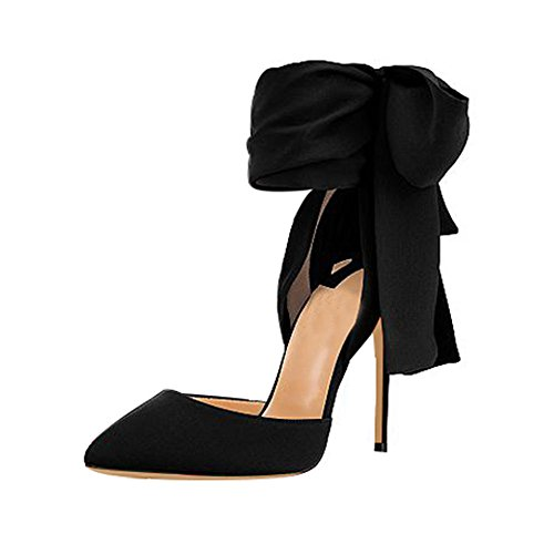 Guoar-Womens-Sexy-Ankle-Strap-Pointed-Toe-High-Heels-Pumps-Prom-Shoes-with-Big-Bowknot-size-5-12-Black-Bowknot-US-8-0