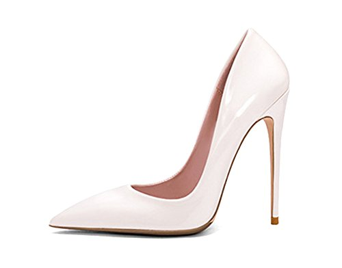 Guoar-womens-Pointed-Toe-High-Heels-White-Metal-Bright-Pumps-Shoes-for-Party-Banquet-Shoes-size-5-12-US-9-0