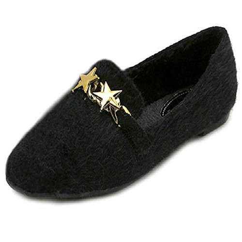 New-Fashion-Winter-Flat-Shoes-Women-Big-Size-42-43-Plush-Inside-Ladies-Flats-Metal-Decoration-Spring-Womens-Shoes-C096-0