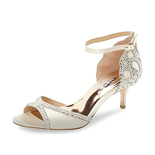 XYD-Ballroom-Dance-Shoes-Wedding-Sandals-Pumps-With-Rhinestones-Ankle-Strap-Peep-Toe-Heels-For-Women-Size-9-Ivory-0