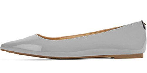 XYD-Classic-Slip-On-Flats-Casual-Daily-Walking-Shoes-with-Rubber-Sole-Driving-Loafers-for-Women-Size-95-Gray-0