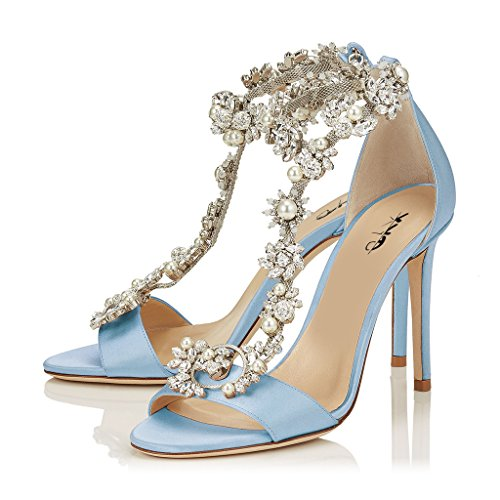 XYD-Cocktail-Party-Evening-High-Heeled-Stilettos-Wedding-Rhinestones-Sandals-T-Strap-Crystal-Pumps-For-Women-Size-85-Light-Blue-0