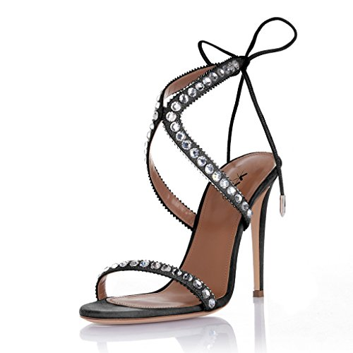 XYD-Evening-Party-Rhinestone-Sandals-Open-Toe-Lace-Up-High-Heel-Stilettos-Pumps-Shoes-for-Women-Size-6-Black-0