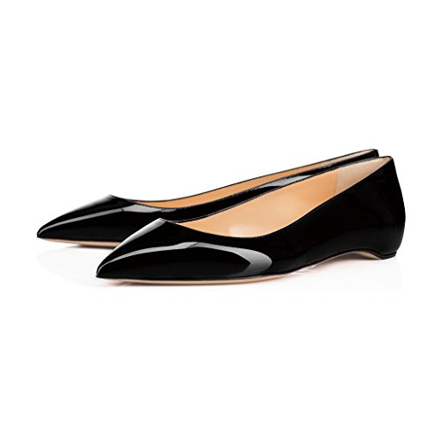 XYD-Office-Flats-Chic-Hidden-Low-Heels-Pointed-Toe-Slip-On-Comfortable-Dress-Shoes-for-Women-Size-85-Black-0
