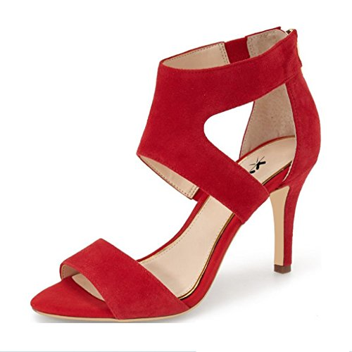 XYD-Prom-Dancing-Shoes-Elegant-Open-Toe-Strappy-Heeled-Sandals-Ankle-Wrap-Dress-Pumps-For-Women-Size-85-Red-0