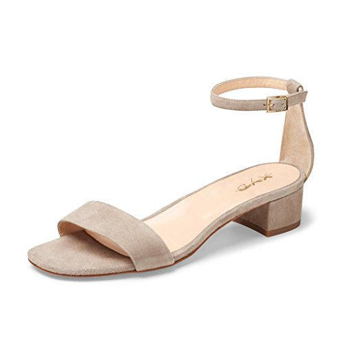 XYD-Women-Low-Block-Heel-Sandals-Solid-Ankle-Strap-Dress-Pumps-Open-Toe-Shoes-For-Summer-Size-95-Nude-0