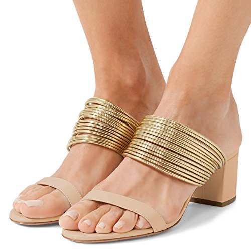 XYD-Women-Strappy-Block-Heel-Sandals-Open-Toe-Slip-on-Slingback-Metal-Ring-Slipper-Pumps-Size-13-Nude-0