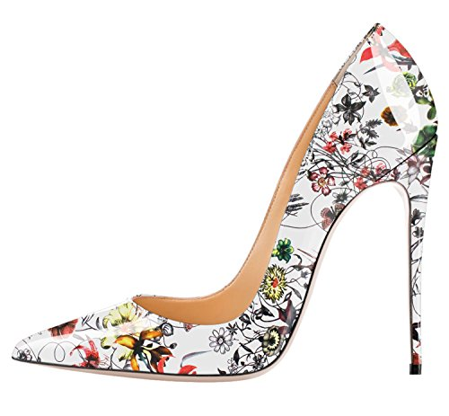 onlymaker-Womens-Pointed-Toe-High-Heels-Floral-Prints-Stiletto-Slip-on-Pumps-Party-Bridal-Dress-Shoes-0
