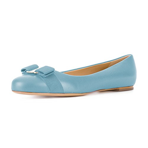 XYD-Women-Comfort-Round-Toe-Ballet-Flats-Slip-On-Dress-Daily-Walking-Shoes-with-Bows-0