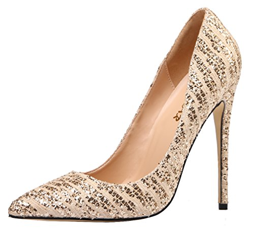 AOOAR-Womens-Animal-Print-Gold-Sequin-Party-Pumps-8-M-US-0