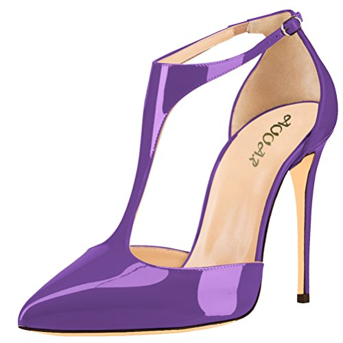 AOOAR-Womens-Ankle-T-Strap-High-Heel-Purple-Patent-Party-Pumps-14-M-US-0