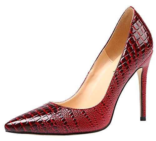 AOOAR-Womens-Embossed-Pointed-Toe-Crimson-Dress-Pumps-13-M-US-0