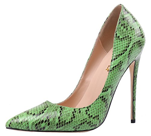 AOOAR-Womens-Faux-Snakeskin-Green-Party-Pumps-15-M-US-0