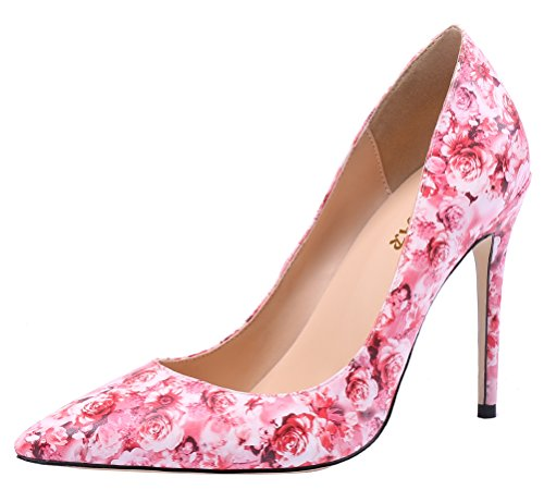 AOOAR-Womens-High-Heel-Colorful-Floral-Pink-Dress-Pumps-5-M-US-0