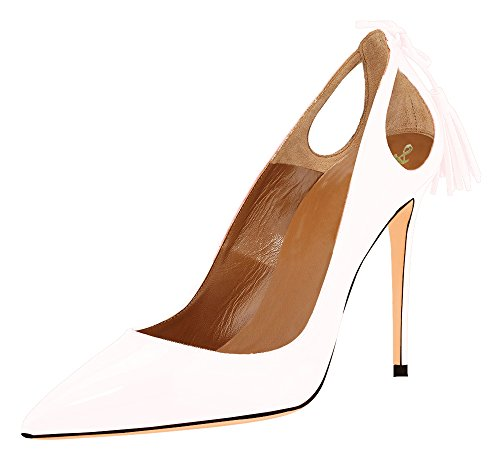 AOOAR-Womens-Pointed-Toe-Tassel-Stiletto-White-Patent-Dress-Pumps-15-M-US-0