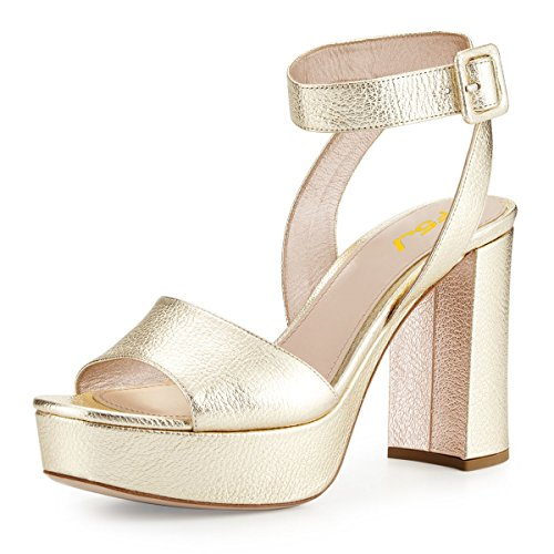 FSJ-Women-Comfortable-Chunky-Heel-Platform-Sandals-Ankle-Strap-Open-Toe-Buckle-Shoes-Size-4-15-US-0