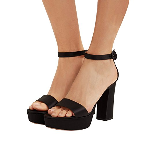 FSJ-Women-Fashion-Chunky-High-Heels-Ankle-Strap-Sandals-Platform-Open-Toe-Shoes-Size-4-15-US-0
