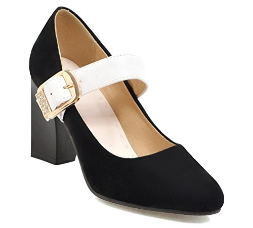 HiEase-Womens-Stylish-Buckle-OL-Work-Shoes-Contrast-Color-Pumps-High-Heeled-Court-Shoes-Size-4-13-0