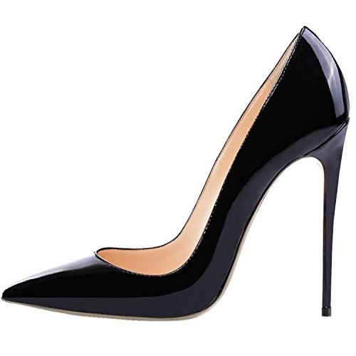 Lovirs-Womens-Black-Pointed-Toe-High-Heel-Slip-On-Stiletto-Pumps-Wedding-Party-Basic-Shoes-65-M-US-0