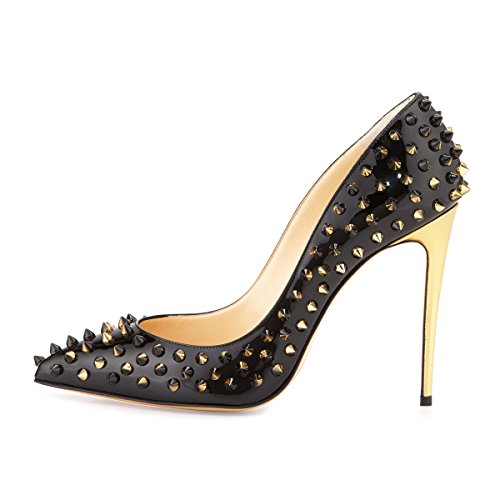 Onlymaker-Womens-Fashion-Pointed-Toe-High-Heels-Pumps-Rivet-Studded-Stiletto-Sandals-for-Wedding-Party-Dress-Black-Gold-95-M-US-0