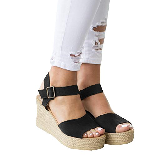 Pxmoda-Womens-Open-Toe-Wedge-Sandals-Strap-Buckle-Ankle-Platform-Sandals-Heeled-Shoes-US-5-Coffee-0