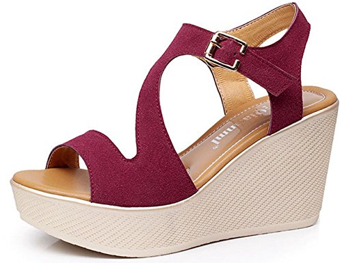 WAROFT-Womens-Open-Peep-Toe-Slingback-Sandals-Ankle-Strap-Buckle-Wedge-Heels-Shoe-Size-4-12-0