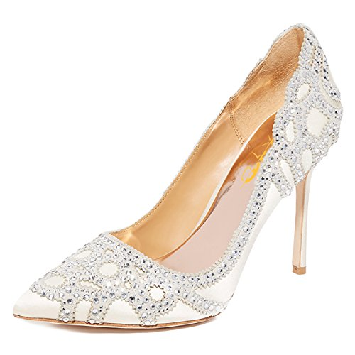 XYD-Women-Pointed-Toe-Rhinestone-Pumps-Stilettos-High-Heel-Slip-On-Satin-Wedding-Dress-Shoes-0
