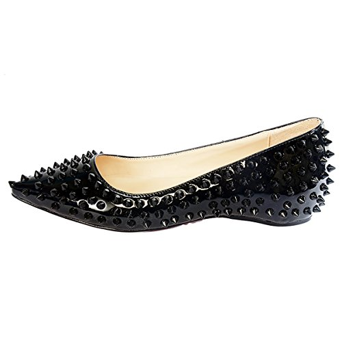 onlymaker-Ladies-Elegent-Pointed-Toe-Rivet-Studded-Ballet-Flat-Shoes-For-Wedding-Party-Black-10-M-US-0