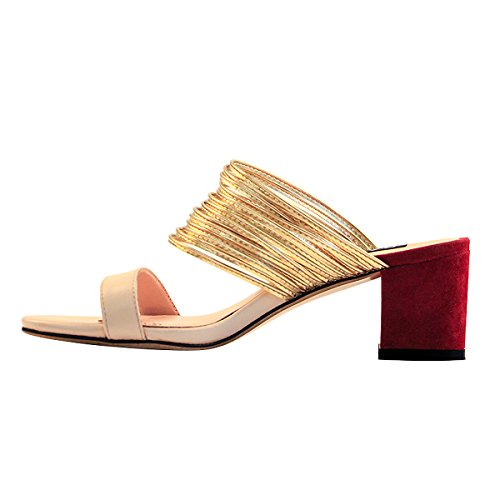onlymaker-Womens-Block-Heels-Mules-Open-Toe-Chunky-Mid-Heel-Strappy-Slide-Sandals-Contrast-Color-Slipper-Shoes-Multicolour-10-M-US-0