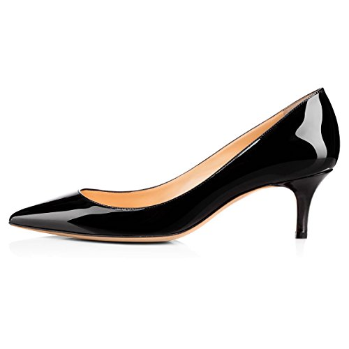 onlymaker-Womens-Classic-Pointed-Toe-Mid-Heel-Large-Size-Dress-Party-Pumps-Shoes-Black-13-0