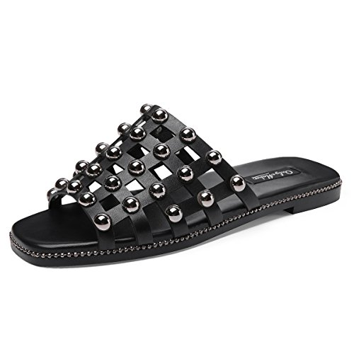 onlymaker-Womens-Metal-Caged-Studded-Cut-Out-Slide-Sandals-Open-Toe-Beaded-Slip-on-Flat-Dress-Slipper-Shoes-Black-8-M-US-0