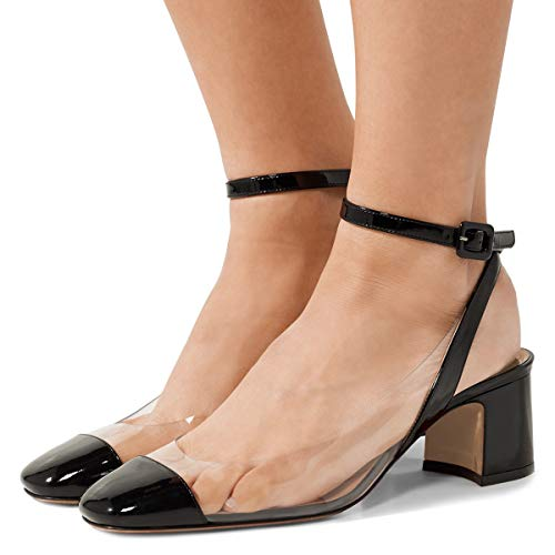 FSJ-Women-Comfortable-Ankle-Strap-Slingback-Pumps-Clear-Round-Toe-Sandals-Comfy-Shoes-Size-4-15-US-0